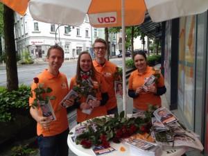 Mit meinem Wahlkampfteam am Bredeneyer Tor
